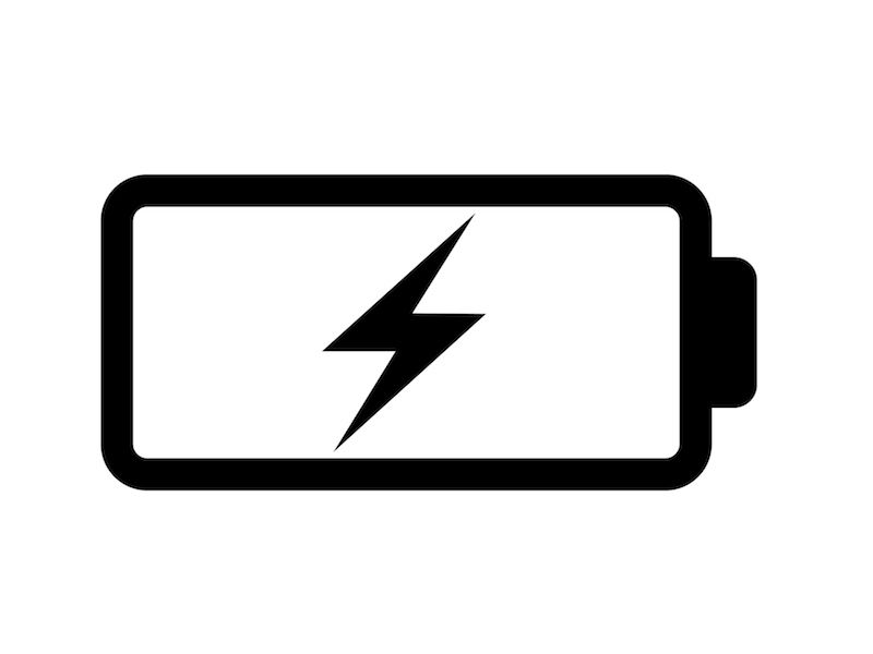 Symbol of rechargeable hearing aid battery charging.