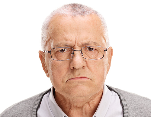 Is Hearing Loss Turning You Into A Grump? | Picture of Grumpy Man