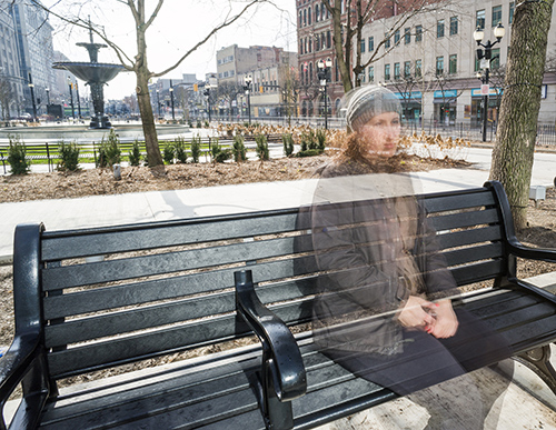 Invisible Woman on Bench | What To Do When Nobody Can See Your Hearing Loss Struggle