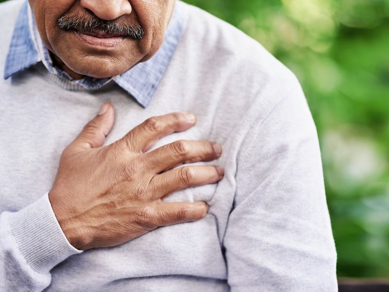 Man with cardiac condition also suffering from hearing loss.