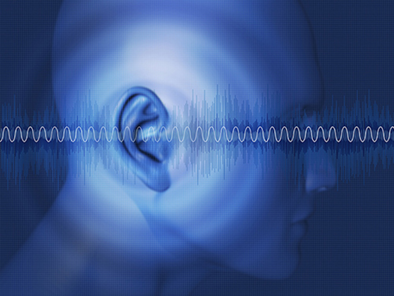 Picture of sound waves coming out of ears.