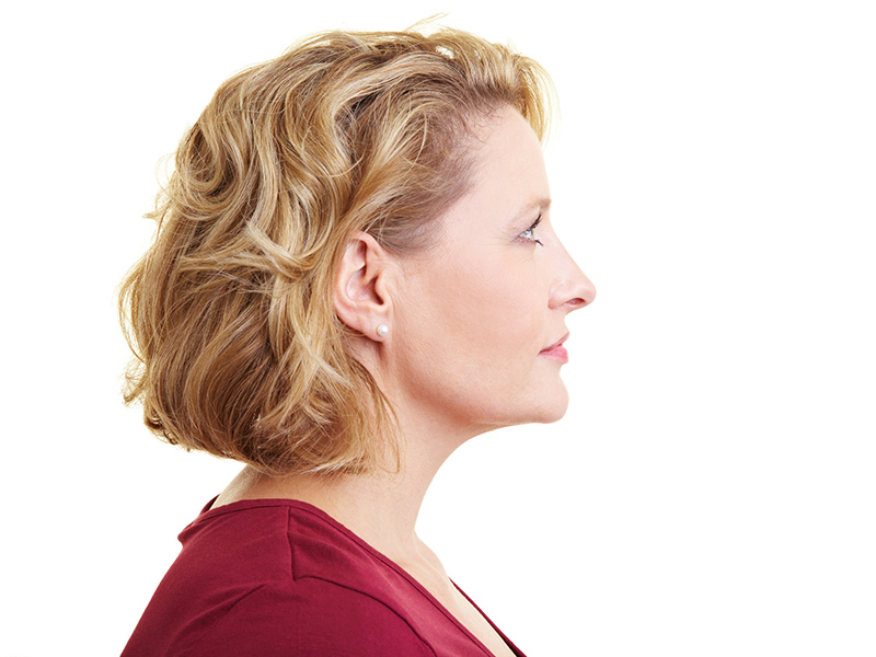 Picture of profile of woman's head
