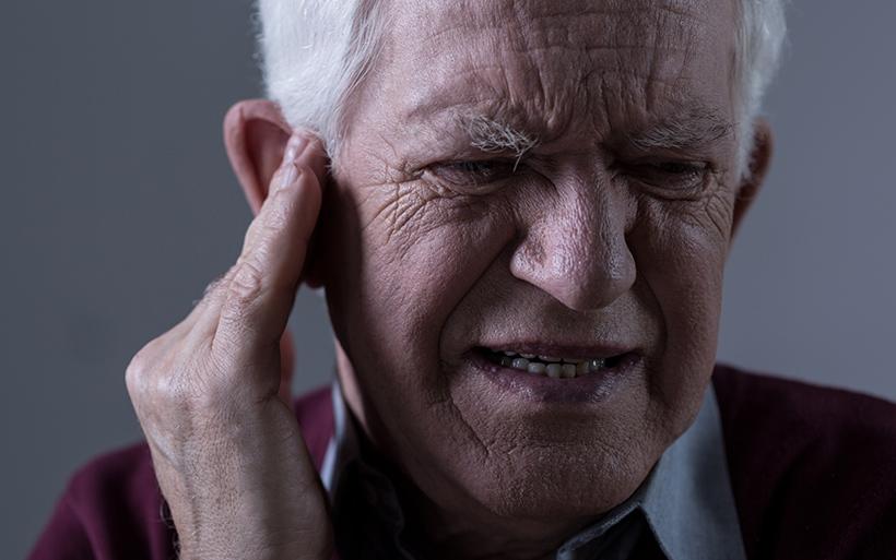 Senior suffering from Tinnitus