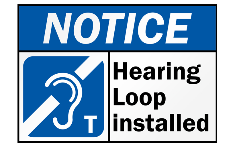 Sign for hearing loop