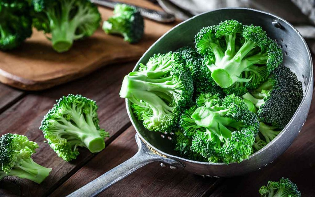Cup of broccoli helping prevent hearing loss.