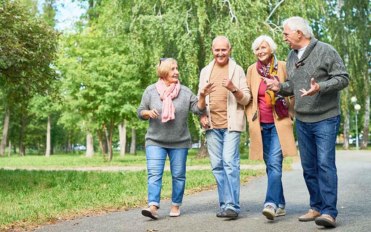 Seniors socializing and preventing dementia.