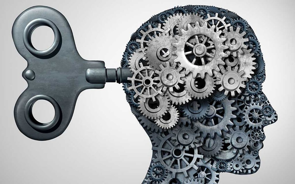 Cogs in the brain represents cognative behavioral therapy for tinnitus.