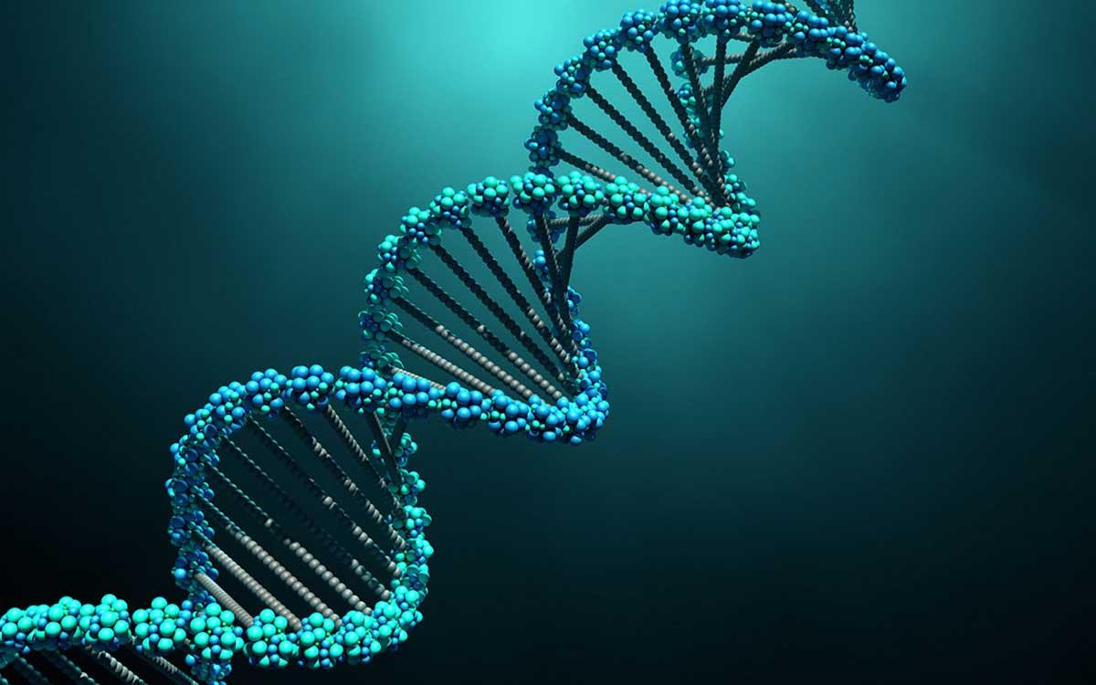 DNA strand representing Tinnitus being hereditary.