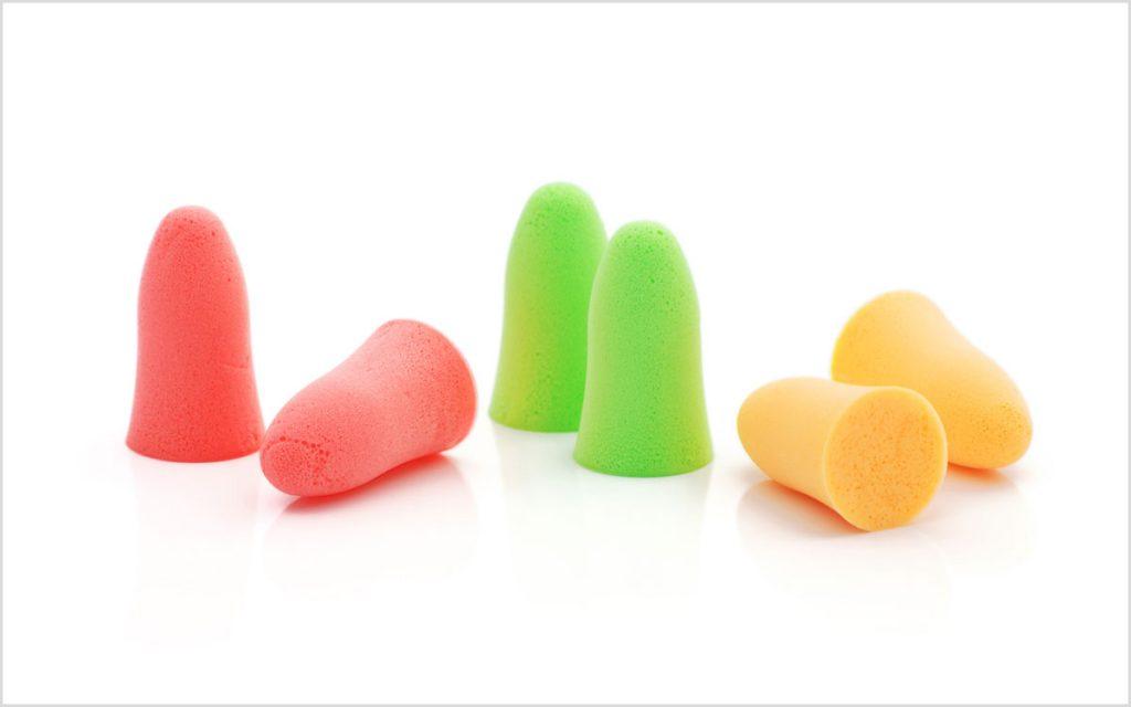 Ear plugs and hearing loss.