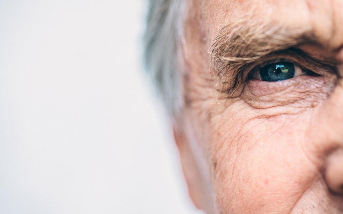 Senior man experiencing demensia.